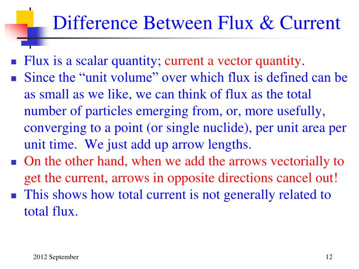 Difference Between Flux & Current