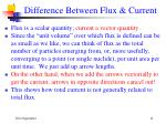 difference between flux current