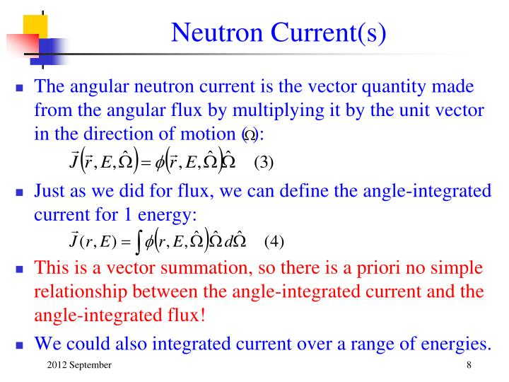 Neutron Current(s)