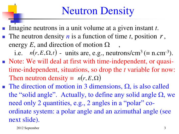 Neutron Density