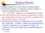 neutron density