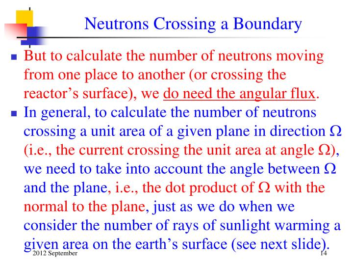 Neutrons Crossing a Boundary