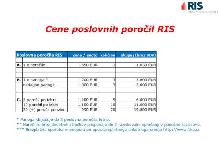 Cene poslovnih poročil RIS