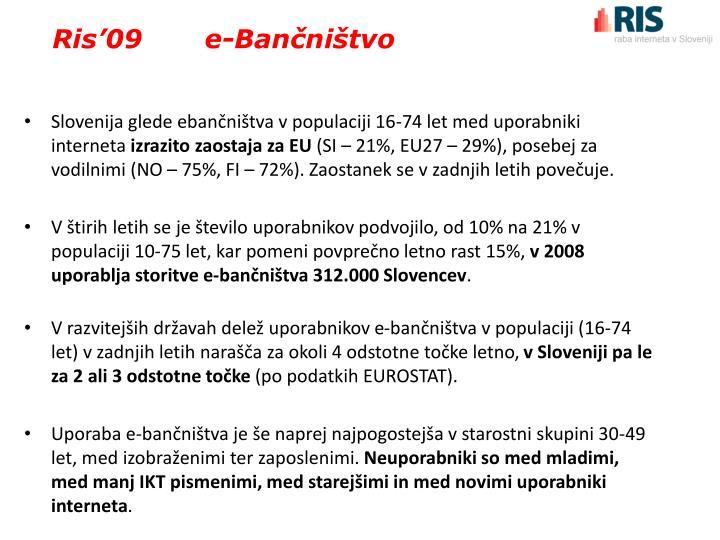 Ris'09       e-Bančništvo