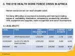 6 the eye health work force crisis in africa