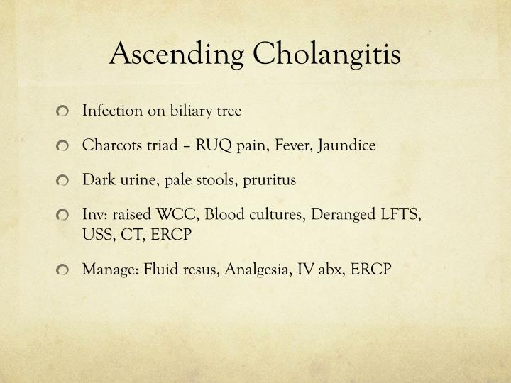 Ascending Cholangitis