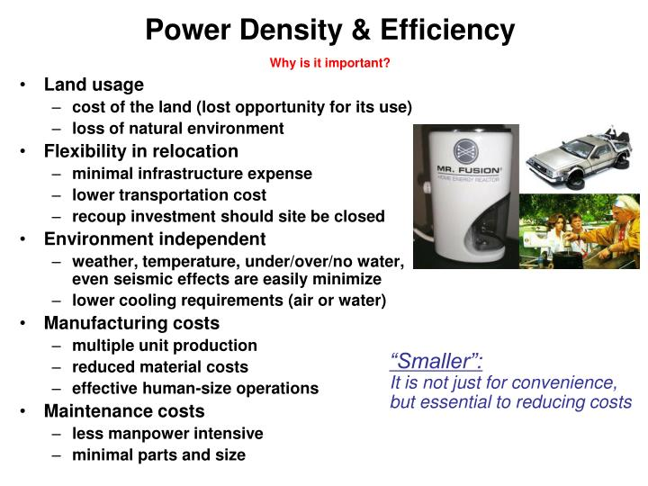 Power Density & Efficiency