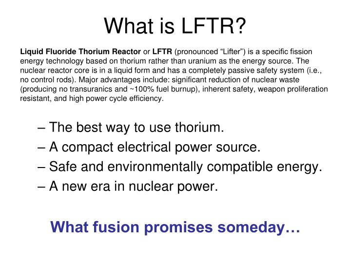 What is LFTR?