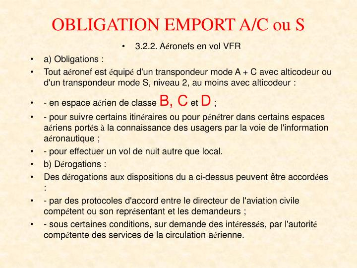 Obligation emport a c ou s