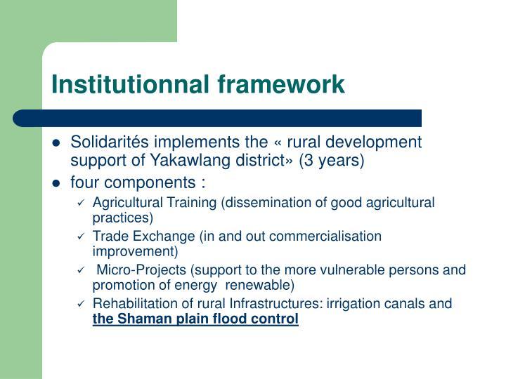 Institutionnal framework