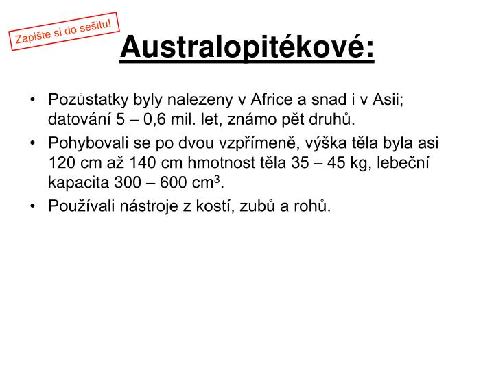 Australopitékové