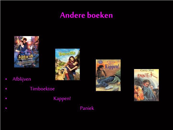 Andere boeken