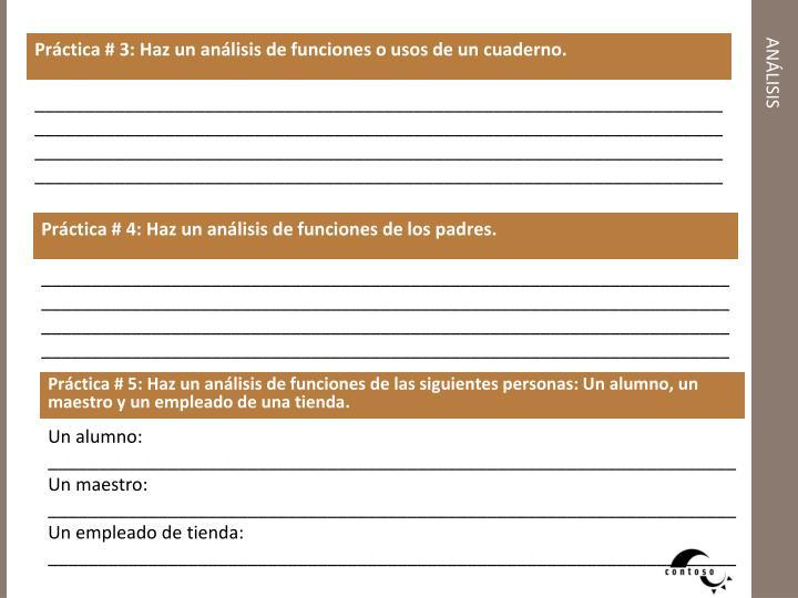 Práctica # 3: Haz un análisis de funciones o usos de un cuaderno.