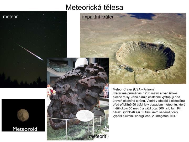 Meteorická tělesa