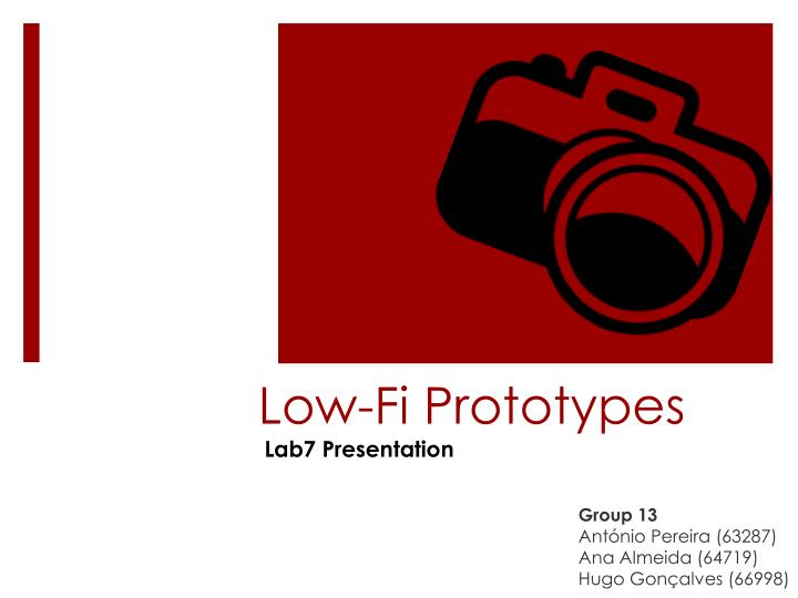 Low fi prototypes