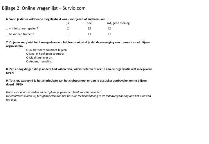 Bijlage 2: Online vragenlijst – Survio.com