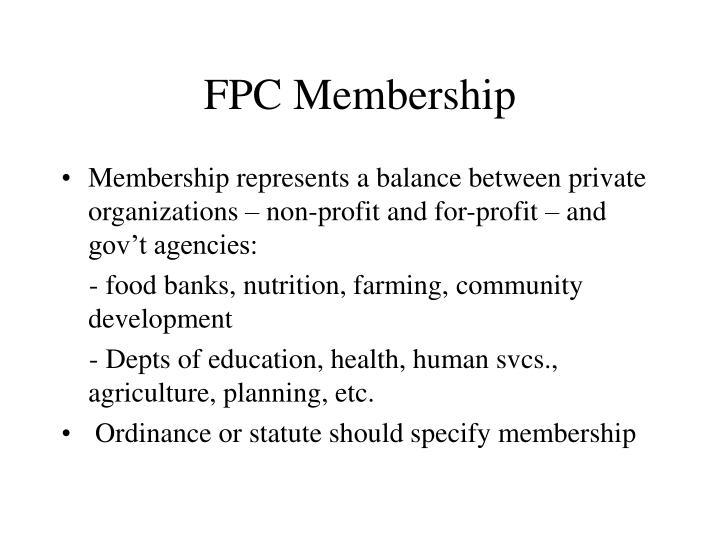 FPC Membership