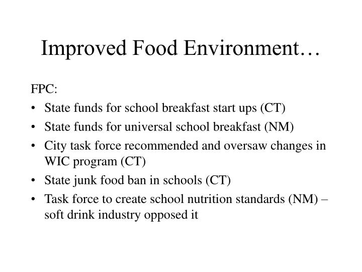 Improved Food Environment…