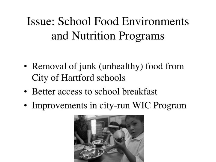 Issue: School Food Environments and Nutrition Programs