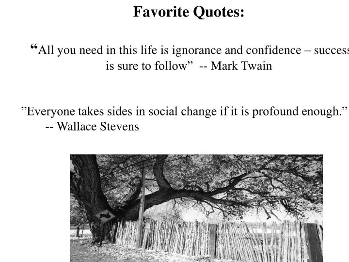 Favorite Quotes: