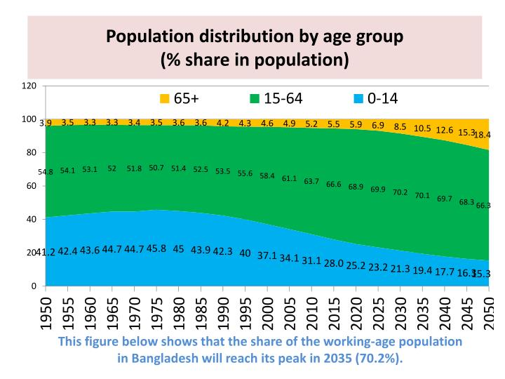 Population distribution by age group