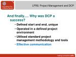 lfrs project management and dcp19
