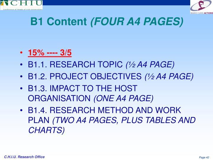 B1 Content