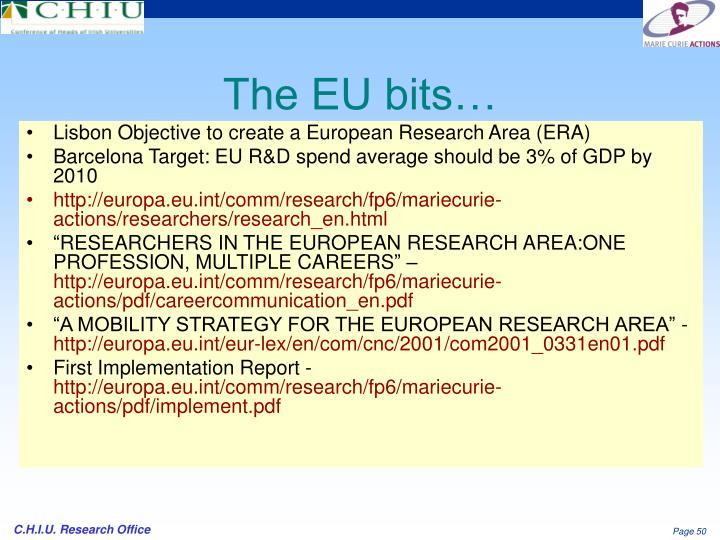 The EU bits…