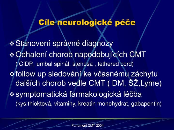 Cíle neurologické péče