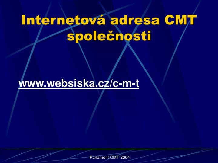 Internetová adresa CMT společnosti