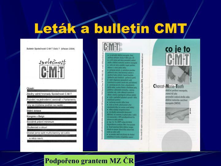 Leták a bulletin CMT