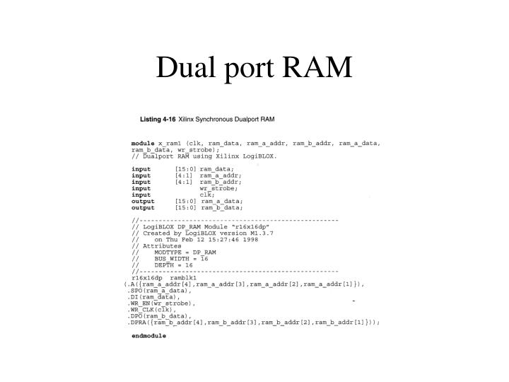 Dual port RAM