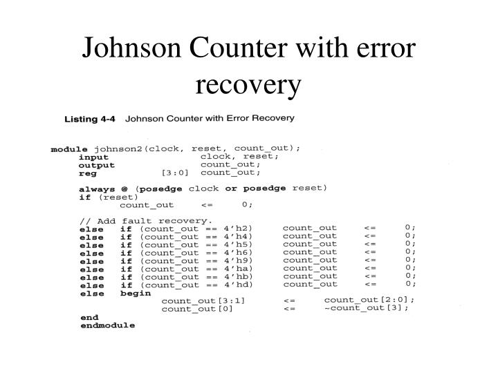 Johnson Counter with error recovery
