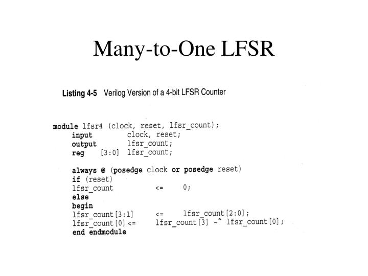 Many-to-One LFSR