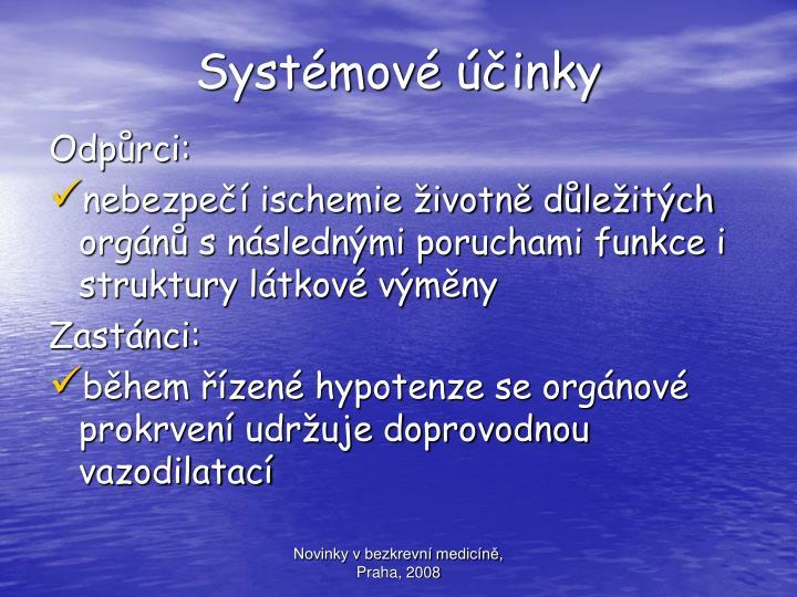Systémové účinky