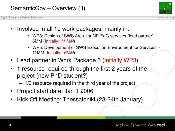 SemanticGov – Overview (II)