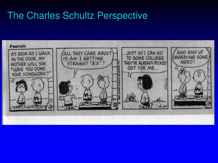 The Charles Schultz Perspective