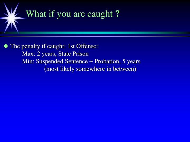 What if you are caught