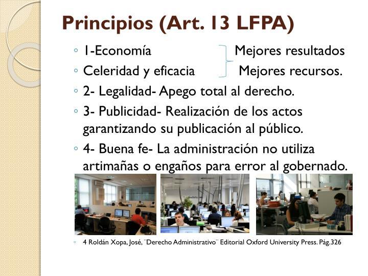 Principios (Art. 13