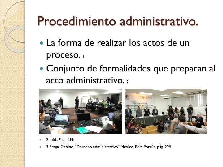 Procedimiento administrativo.