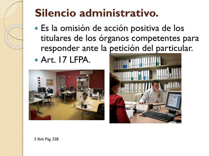 Silencio administrativo.