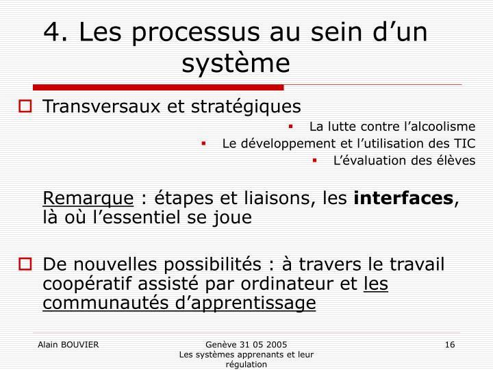 4. Les processus au sein d'un système