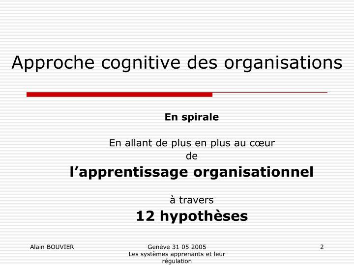 Approche cognitive des organisations