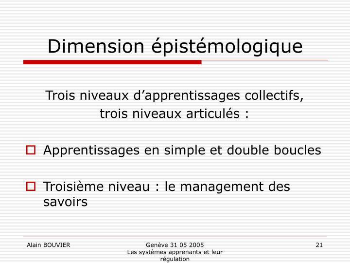 Dimension épistémologique