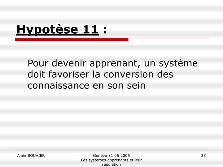 Hypotèse 11