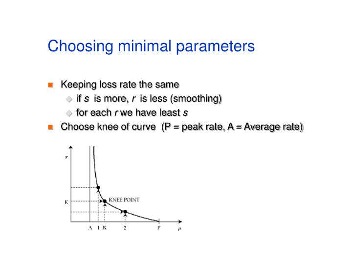 Choosing minimal parameters