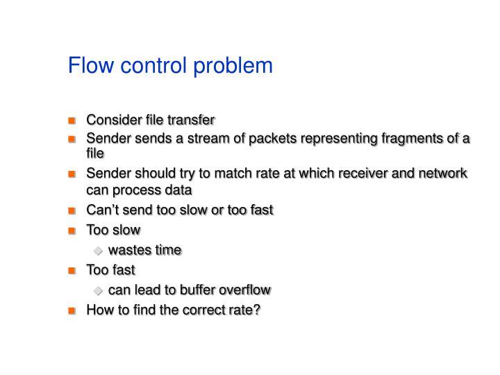 Flow control problem