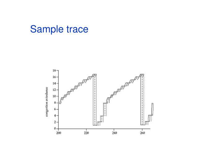 Sample trace
