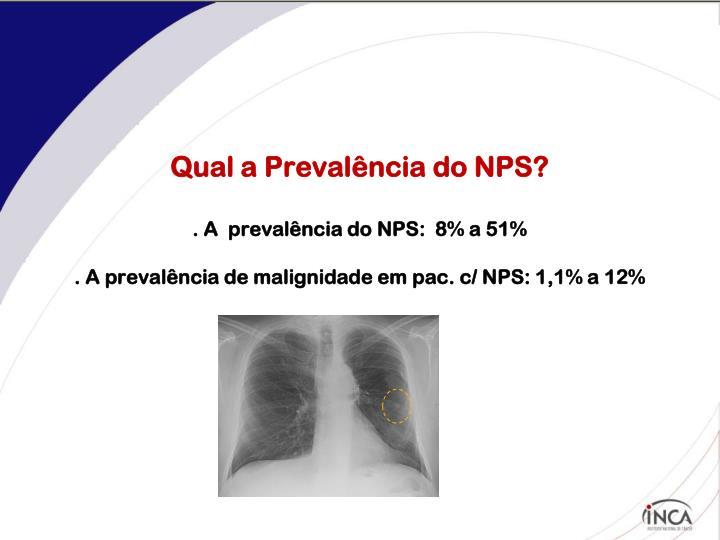 Qual a Prevalência do NPS?