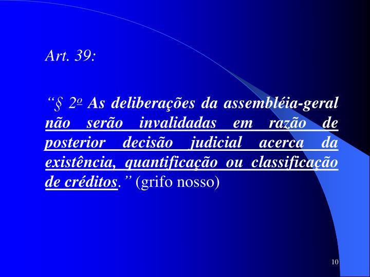 Art. 39: